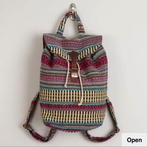 World Market Multicolor Boho Traveler Backpack
